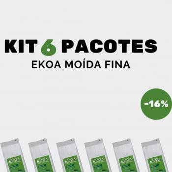 KIT 6 PACOTES de 1 kg de erva-mate EKOA Moída Fina